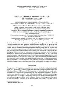 The Exploitation and Conservation of Precious Corals