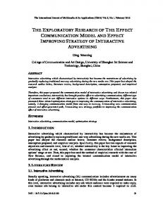 the exploratory research of the effect ... - Aircc Digital Library