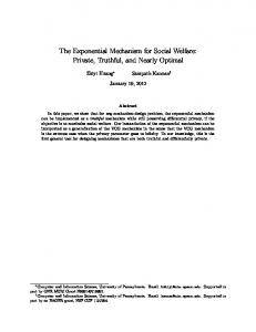 The Exponential Mechanism for Social Welfare: Private, Truthful, and ...