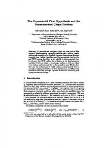 The Exponential Time Hypothesis and the Parameterized Clique ...