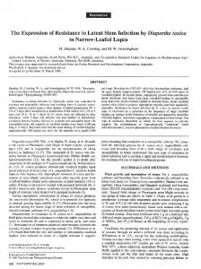 The Expression of Resistance to Latent Stem Infection by Diaporthe ...