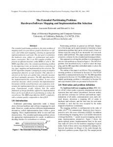 The Extended Partitioning Problem: Hardware ... - Semantic Scholar