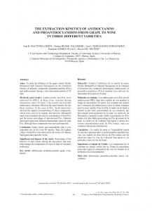 the extraction kinetics of anthocyanins and ... - Semantic Scholar
