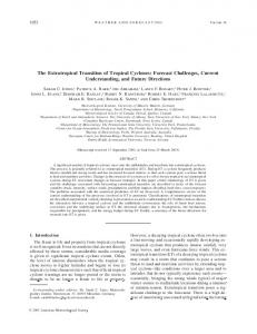 The Extratropical Transition of Tropical Cyclones - CiteSeerX