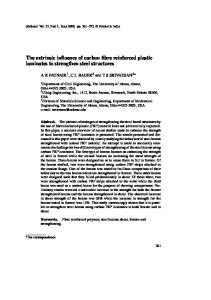 The extrinsic influence of carbon fibre reinforced plastic laminates to ...