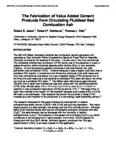 The Fabrication of Value Added Cement Products from Circulating ...