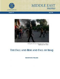 THE FALL AND RISE AND FALL OF IRAQ - Brookings Institution