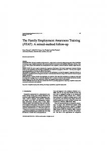 The Family Employment Awareness Training (FEAT