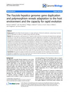 The Fasciola hepatica genome: gene duplication and