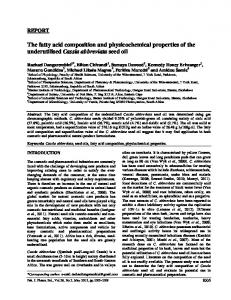 The fatty acid composition and physicochemical ...