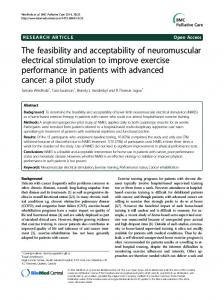 The feasibility and acceptability of neuromuscular