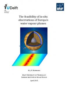 The feasibility of in-situ observations of Europa's water vapour plumes