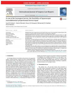 the feasibility of laparoscopic transabdominal preperitoneal hernia repair