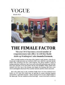 THE FEMALE FACTOR - Amanda Foreman