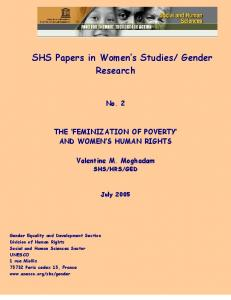 THE FEMINIZATION OF POVERTY?
