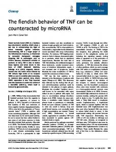 The fiendish behavior of TNF can be ... - Wiley Online Library