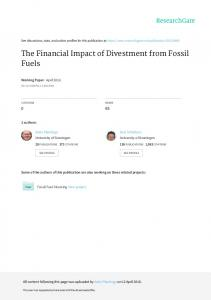 The Financial Impact of Divestment from Fossil Fuels