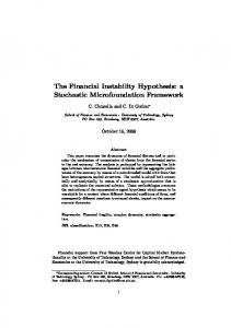 The Financial Instability Hypothesis: a Stochastic Microfoundation ...