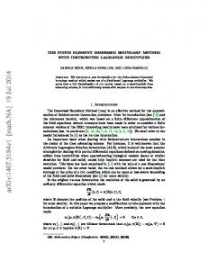 THE FINITE ELEMENT IMMERSED BOUNDARY METHOD WITH ...
