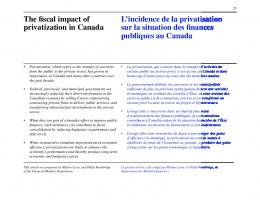 The fiscal impact of privatization in Canada - Banque du Canada