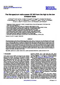 The flat-spectrum radio quasar 3C 345 from the high to the low