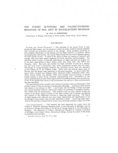 THE FLIGHT ACTIVITIES AND COLONY-FOUNDING