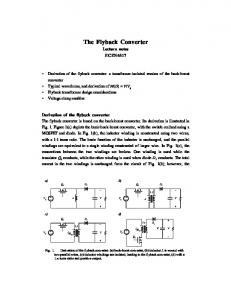 The Flyback Converter - ECEE