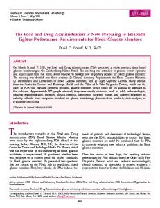 The Food and Drug Administration Is Now Preparing to Establish ...