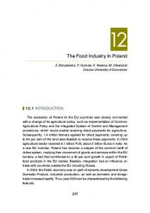 The Food Industry In Poland