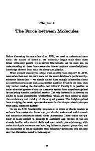 The Force between Molecules - nanoHUB