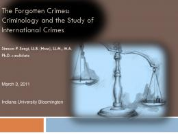 The Forgotten Crimes: Criminology and the Study of ...