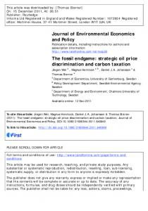 The fossil endgame: strategic oil price discrimination and carbon