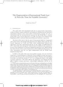 The Fragmentation of International Trade Law - SSRN papers