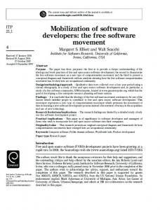 the free software movement - Donald Bren School of Information and ...