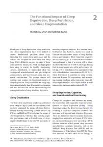 The Functional Impact of Sleep Deprivation, Sleep Restriction, and