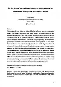 The functioning of inter-modal competition in the ... - SSRN papers