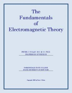The Fundamentals of Electromagnetic Theory - Farmingdale State ...