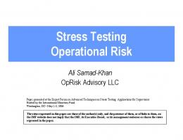 The Fundamentals of Operational Risk Management