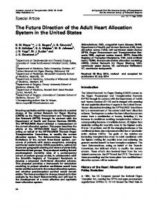 The Future Direction of the Adult Heart ... - Wiley Online Library