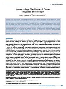 The future of cancer diagnosis and therapy - Wiley Online Library