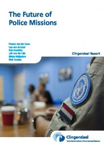 The Future of Police Missions - Clingendael