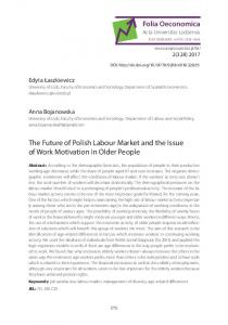 The Future of Polish Labour Market and the Issue of ...
