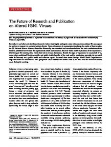 The Future of Research and Publication on Altered ... - Semantic Scholar