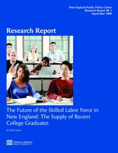 The Future of the Skilled Labor Force in New England: The Supply of ...