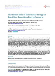 The Future Role of the Nuclear Energy in Brazil in a Transition Energy ...