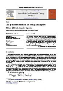 The g-theorem matrices are totally nonnegative - ScienceDirect