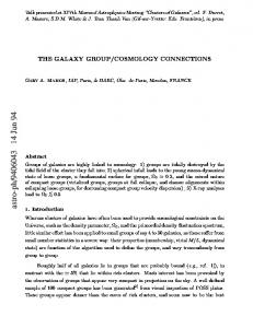 The Galaxy Group/Cosmology Connections