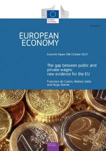 The gap between public and private wages - European Commission