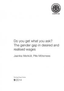 The gender gap in desired and - Eesti Pank