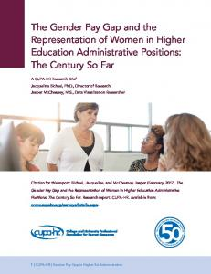 The Gender Pay Gap and the Representation of Women ... - CUPA-HR